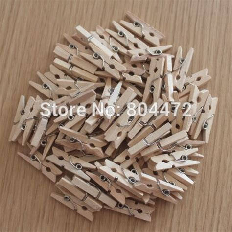 25mm wooden pegs natural craft wedding clothes