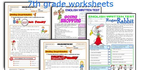 teaching worksheets 7th grade