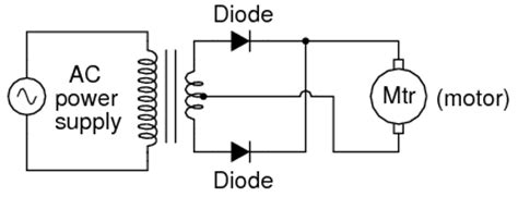 full wave center tap rectifier discrete semiconductor