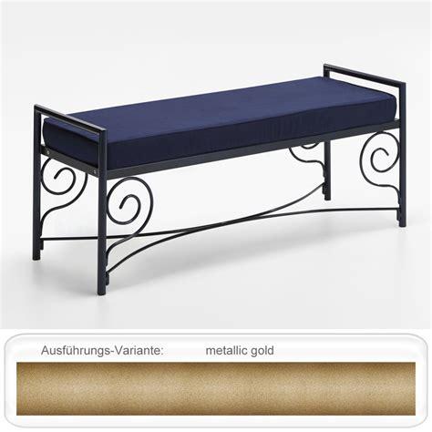 Sitzbank Flur Gold by Sitzbank Mabel 120x51x43 Cm Metall Kunstleder Farben Nach