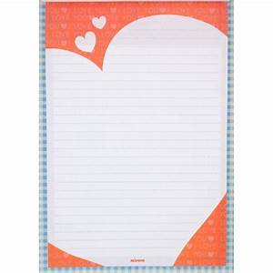 letter pad heart pattern cream hearts on green With letter writing pad