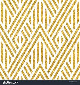 Geometric striped ornament. Vector gold seamless patterns ...