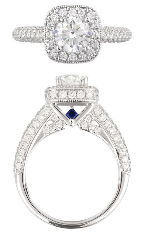 love diamond and sapphire engagement ring vera wang the jewellery editor