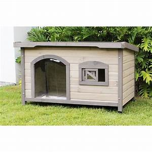 somerset large wooden insulated flat roof dog house buy With insulated wood dog house