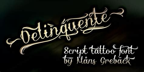 25 Free Tattoo Fonts With Style For 2018