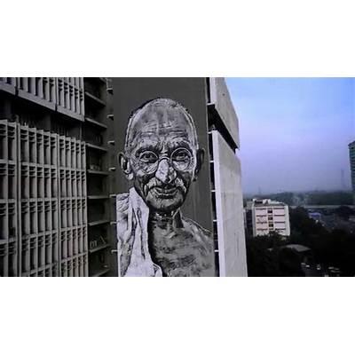 The tallest mural of India - Mahatma Gandhi YouTube