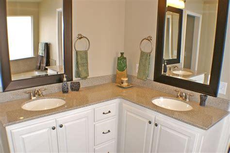 shaped bathroom vanity double sinks dream home