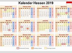 Kalender 2019 Hessen Ausdrucken, Ferien, Feiertage, Excel