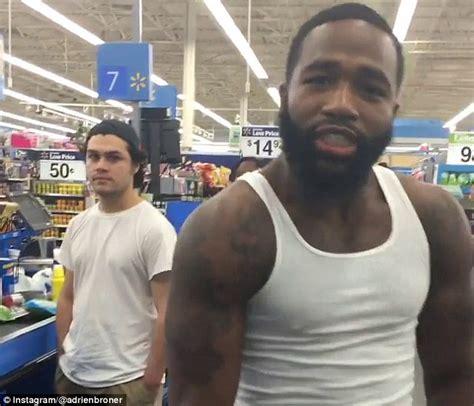 Adrien Broner Money Throwing in Walmart