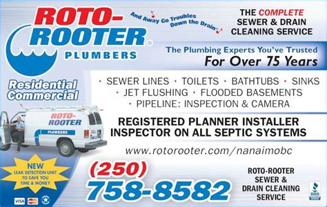 roto rooter plumbing drain services roto rooter plumbing drain cleaning service canpages