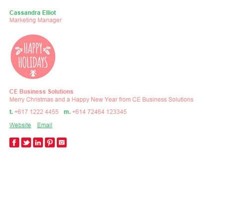 email template pattern 7 best christmas email signature templates images on