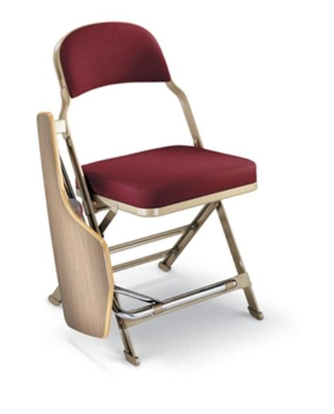 clarin enhanced steel folding chair with luxurious seat