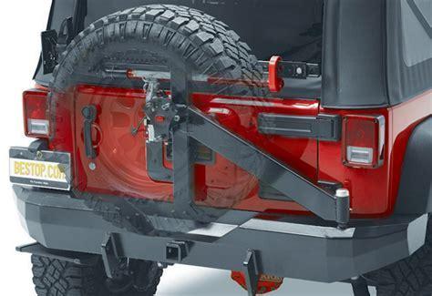 Bestop HighRock Tire Carrier Rear Bumper   Free Shipping