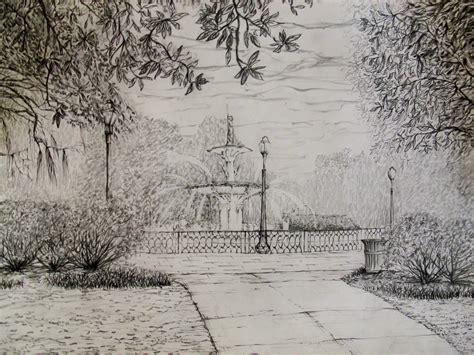 landscape drawing  anhpham  deviantart
