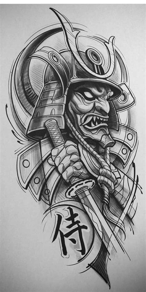 Pin by Andrew Nguyen on sketch ideas | Samurai tattoo