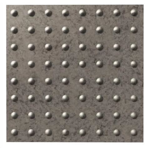 2x2 Ceiling Tile Home Depot by Fasade Dome Galvanized Steel Ceiling Tile 2x2 Home