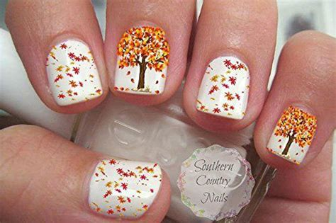 autumn nail art stickers decals  fabulous nail art