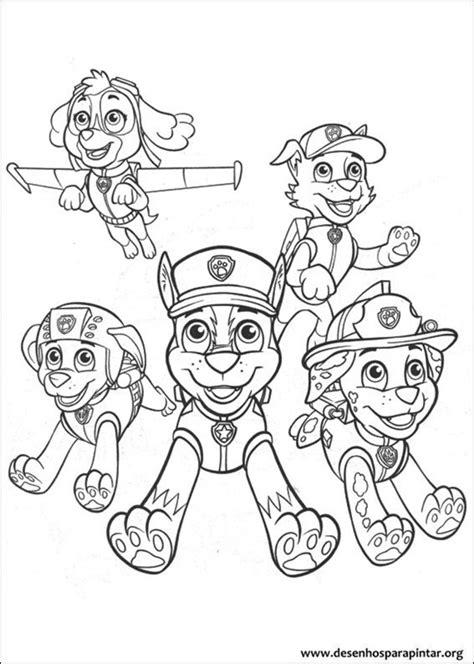 patrulha canina desenhos para colorir imprimir e pintar do mundo nick desenhos para pintar e
