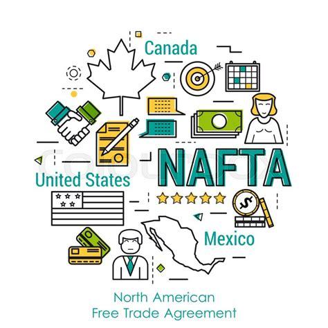 vector  art  infographic  nafta concept