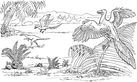 Allosaurus Kleurplaat by Archaeopteryx Coloring Page Dinosaurs Pictures And Facts