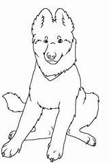 Shepherd German Coloring Dog Wolf Puppy Lineart Sitting Printable Shepherds Sheet Deviantart Template sketch template