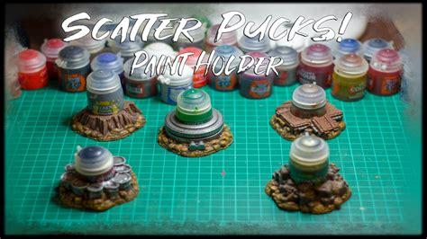 scatter pucks paint holder kickstarter brueckenkopf