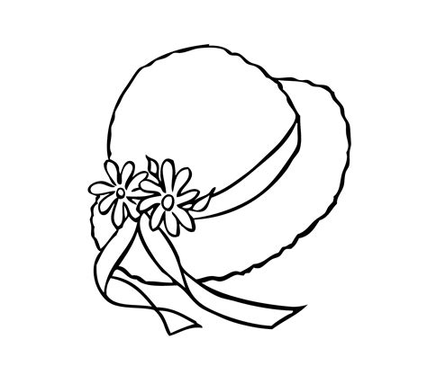 hat coloring page hat coloring pages to and print for free
