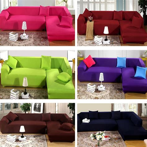 pure color removable stretch sofa slipcover couch pillow
