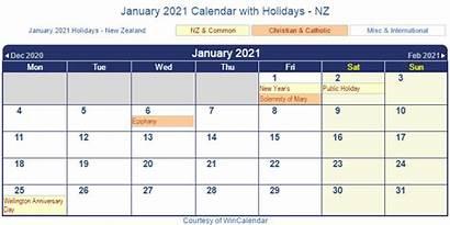 Calendar 2021 January Holidays Nz Zealand Printable
