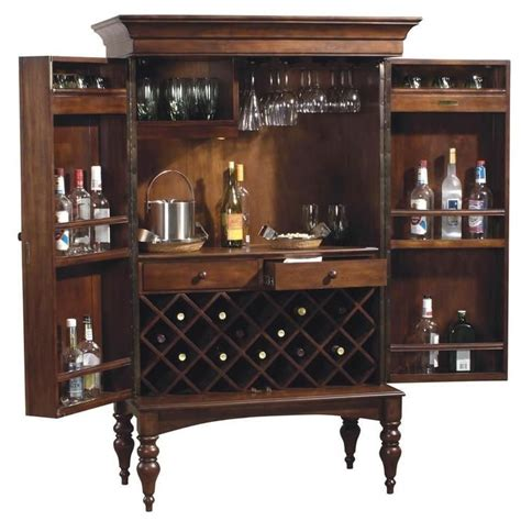 Home Bar Cabinets by Howard Miller Cherry Hill Home Bar Wine And Liquor Cabinet