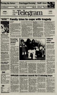 garden city newspaper garden city telegram newspaper archives oct 29 1994