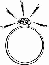 Coloring Ring Rings Diamond Sparkling Heart Engagement Coloringpagesfortoddlers Sketch sketch template