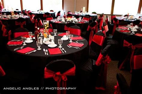 black white red gold reception decorations photo 7 a