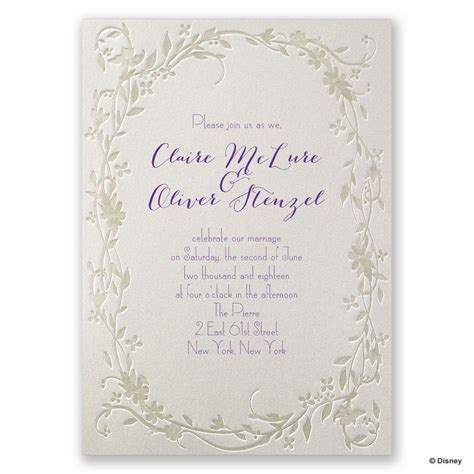 disney flowing vines invitation rapunzel invitations  dawn
