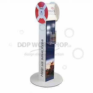 floor standing donation box with leaflet holder charity With floor standing charity collection boxes