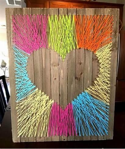 String Craft Easy Heart Crafts Fun Arts