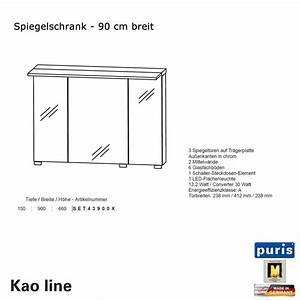 Spiegelschrank 90 Cm Breit : puris kao line spiegelschrank 90 cm impulsbad ~ Frokenaadalensverden.com Haus und Dekorationen