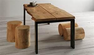 Tavolo in legno con gambe metallo Tavolo piano in legno
