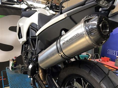 Bmw F800gs Titanium Carbon Motorcycle Exhaust Muffler