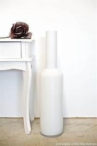 Vase Weiß Groß : vase dekovase bodenvase gro wei h 75cm ebay ~ Indierocktalk.com Haus und Dekorationen