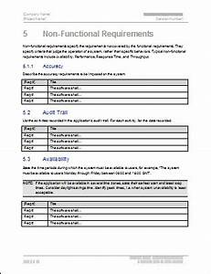 Functional requirements template technical writing tips for Non functional requirements template