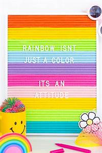 diy rainbow felt letter board With best felt letter board
