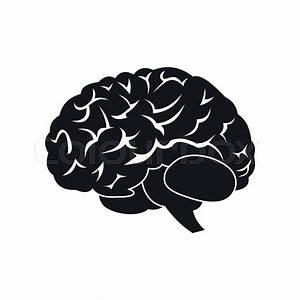 Human Brain Black Simple Icon Isolated