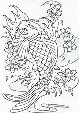 Coloring Pages Koi Fish Japanese Heavy Metal Print Carp Leaping Ink Adult Coloringpagesfortoddlers Dragon Realistic Coloringtop Embroidery Printable Coy Drawings sketch template