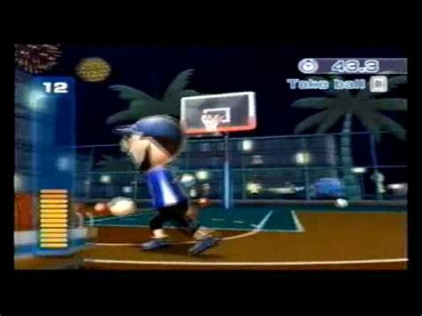 wii sports resort basketball  point contest high score