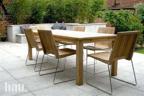 tripoli contemporary teak garden chairs bau outdoors