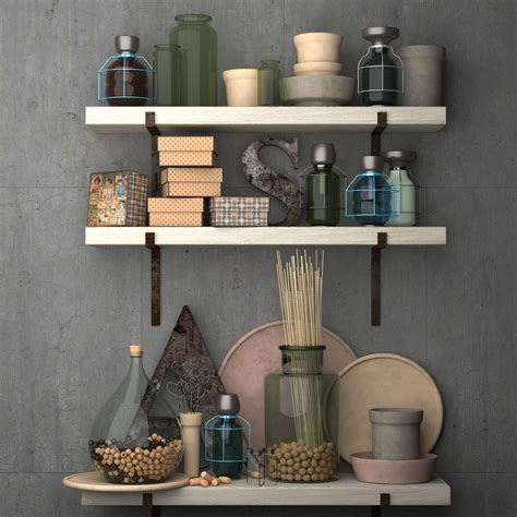 Decorative Set For The Kitchenvintage Kit 3d Model