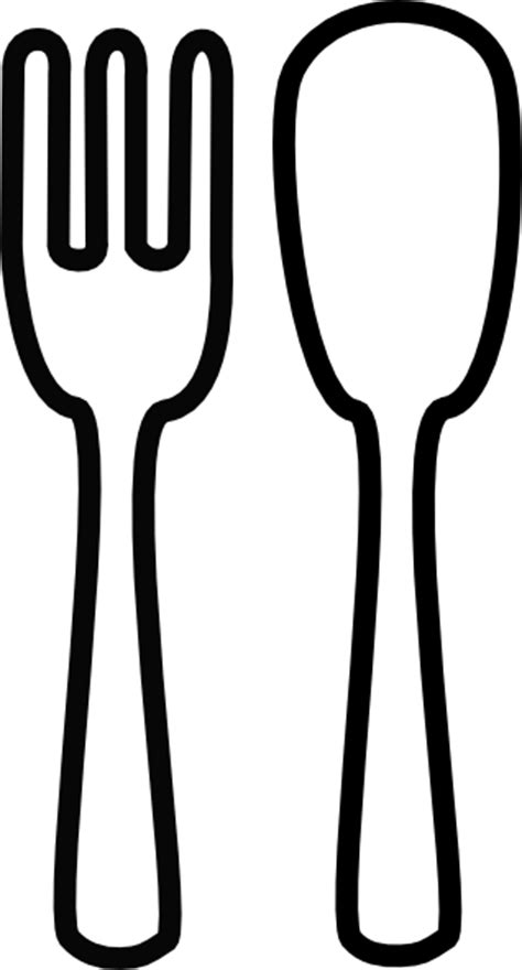 fork clipart black and white spoon and fork crossed clipart panda free clipart images