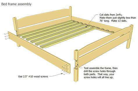 build king size bed frame woodworking plans plans