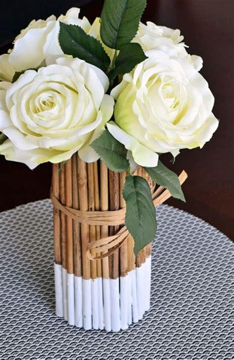contoh kerajinan tangan  bambu  mudah vas bunga